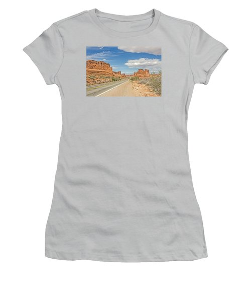 Women's T-Shirt (Junior Cut) featuring the photograph Entrada Sandstone Formations by Sue Smith