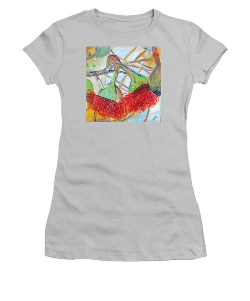Eucalyptus Flowers Women's T-Shirt (Junior Cut) by Reina Resto