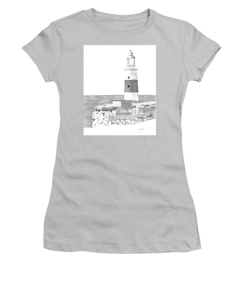 Europa Point Lighthouse Women's T-Shirt (Athletic Fit)