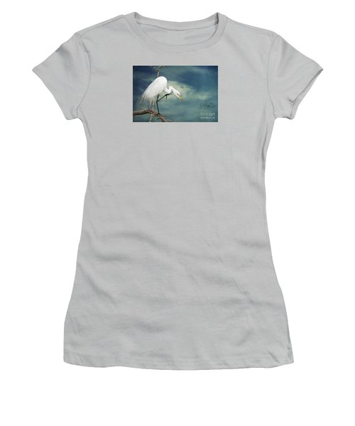 Evangeline Parish Egret Women's T-Shirt (Junior Cut) by Bonnie Barry