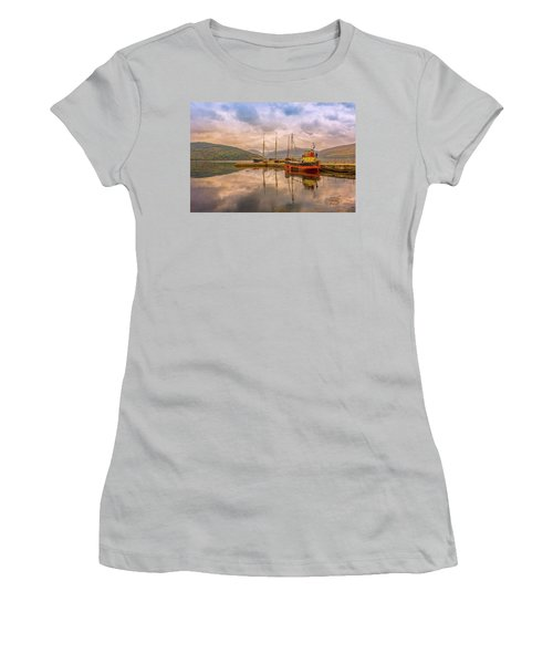 Evening At The Dock Women's T-Shirt (Junior Cut) by Roy McPeak