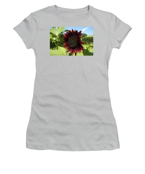 Evening Sun Sunflower #1 Women's T-Shirt (Athletic Fit)