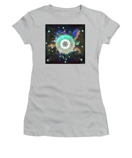 Women's T-Shirt (Athletic Fit) featuring the digital art Eye Know Dark Two by Iowan Stone-Flowers