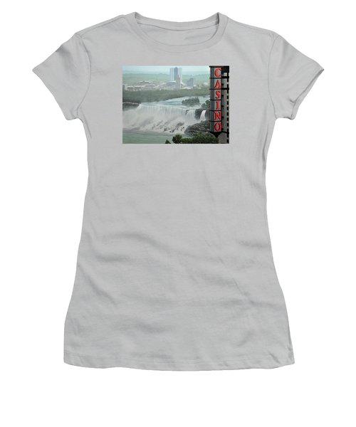Falls View Women's T-Shirt (Junior Cut) by Kenneth M  Kirsch