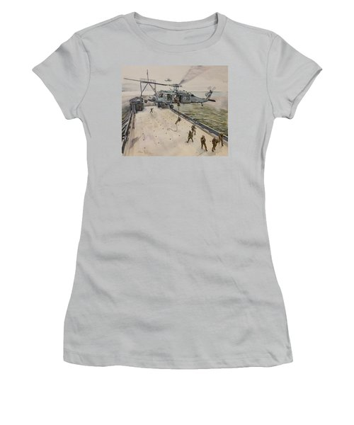 Fast Rope Women's T-Shirt (Junior Cut) by Stan Tenney