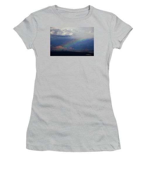 Fat Rainbow, Sedona Az Women's T-Shirt (Junior Cut) by Ron Chilston