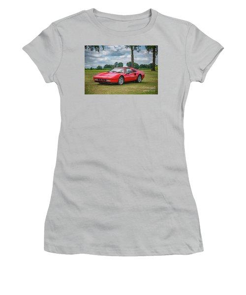 Women's T-Shirt (Junior Cut) featuring the photograph Ferrari 328 Gts by Adrian Evans