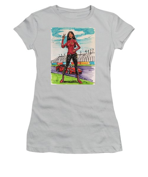Ferrari Girl Women's T-Shirt (Athletic Fit)
