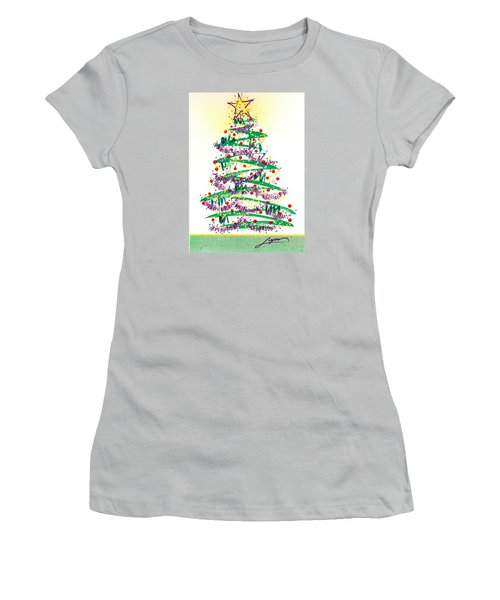 Festive Holiday Women's T-Shirt (Athletic Fit)