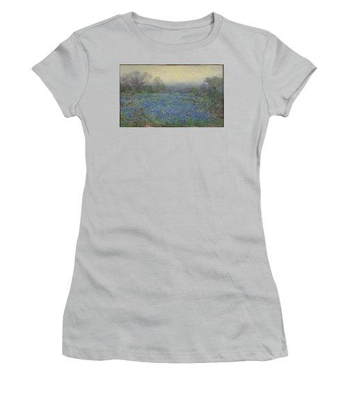 Field Of Bluebonnets Women's T-Shirt (Junior Cut) by Julian Onderdonk