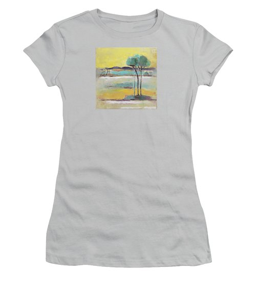 Standing In Distance Women's T-Shirt (Junior Cut) by Becky Kim