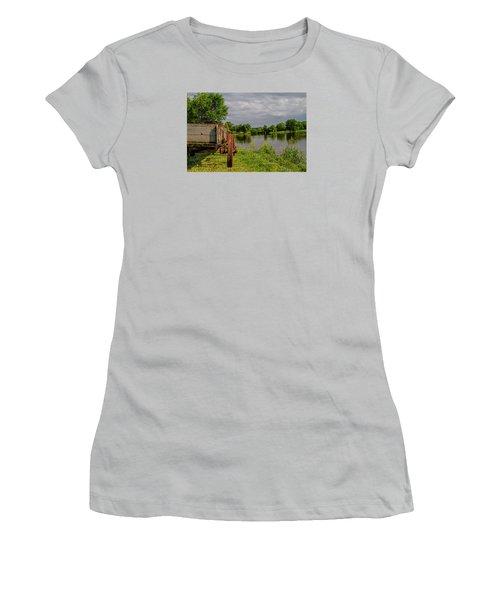 Final Stop Women's T-Shirt (Junior Cut) by Alana Thrower