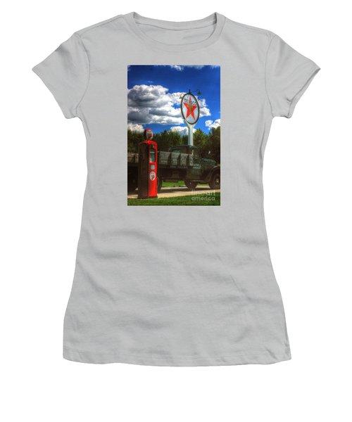 Fire Chief Women's T-Shirt (Junior Cut) by Randy Pollard