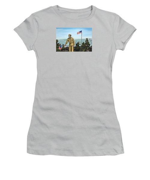 First Flag Raising Iwo Jima Women's T-Shirt (Athletic Fit)
