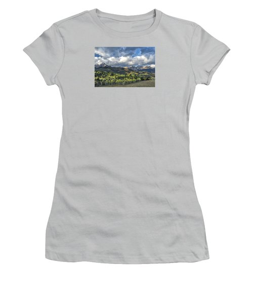 First Light On The Sneffels Range Women's T-Shirt (Athletic Fit)