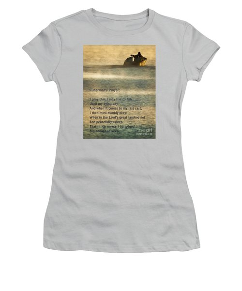 Fisherman's Prayer Women's T-Shirt (Athletic Fit)