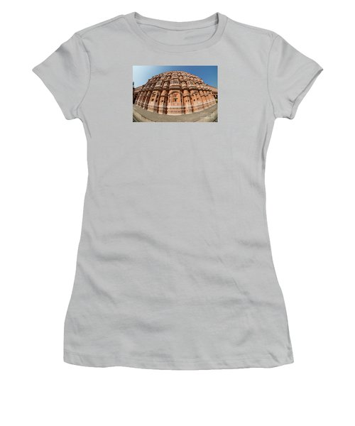 Women's T-Shirt (Athletic Fit) featuring the photograph Fisheye View Of Hawa Mahal by Yew Kwang