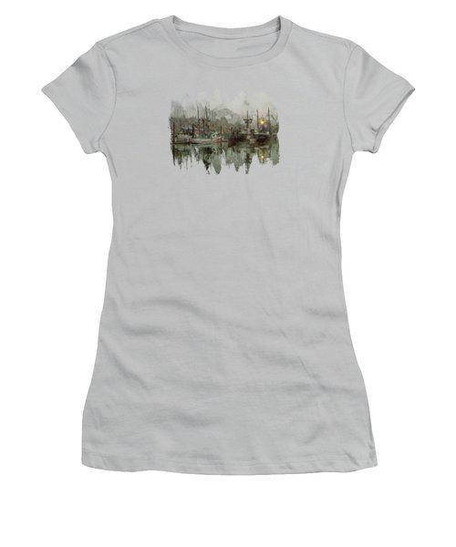 Fishing Fleet Dock Five Women's T-Shirt (Athletic Fit)
