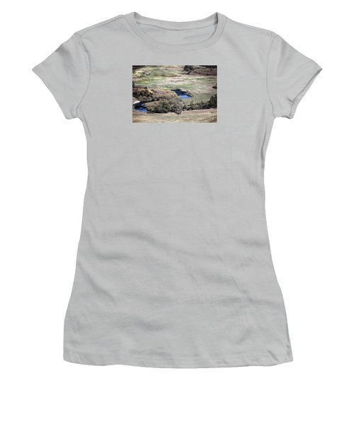 Flathead River 3 Women's T-Shirt (Junior Cut) by Janie Johnson