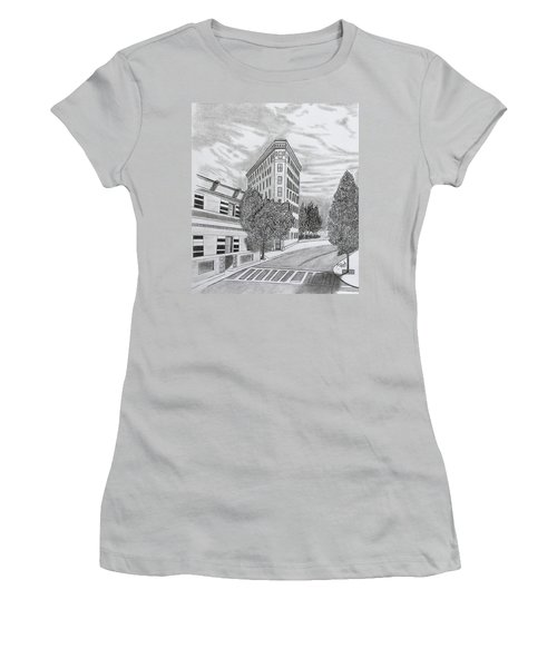 Flatiron In Asheville  Women's T-Shirt (Athletic Fit)