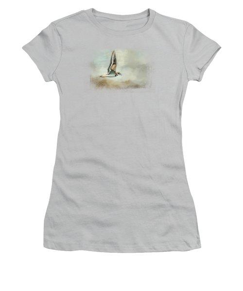 Flight Of The Killdeer Women's T-Shirt (Junior Cut) by Jai Johnson