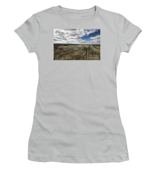 Flinders Ranges Fields V2 Women's T-Shirt (Junior Cut) by Douglas Barnard