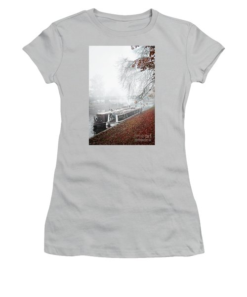 Floating Homes Of  River Cam Women's T-Shirt (Junior Cut) by Eden Baed