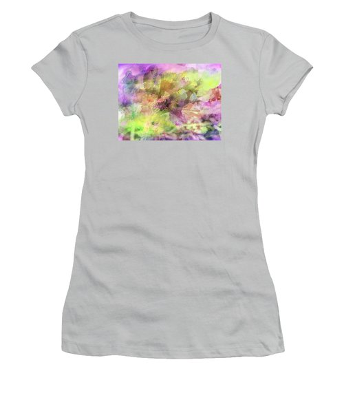 Floral Pastel Abstract Women's T-Shirt (Junior Cut) by Mikki Cucuzzo