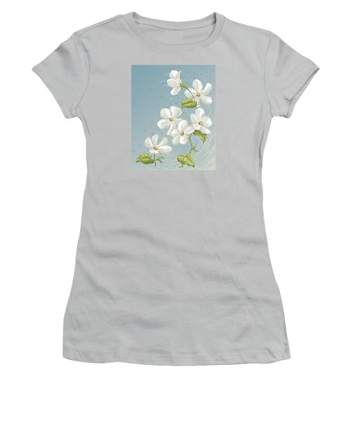 Floral Whorl Women's T-Shirt (Athletic Fit)