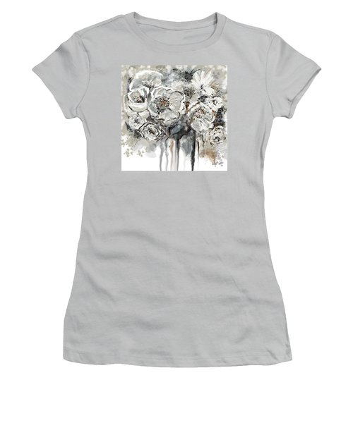 Floral Anxiety  Women's T-Shirt (Athletic Fit)