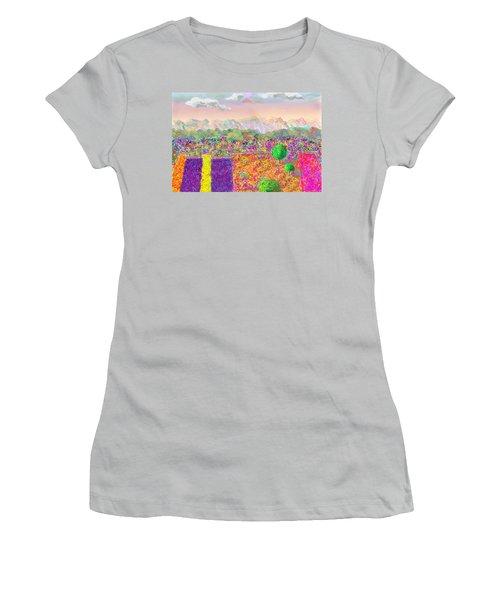 Flower Fields Women's T-Shirt (Athletic Fit)
