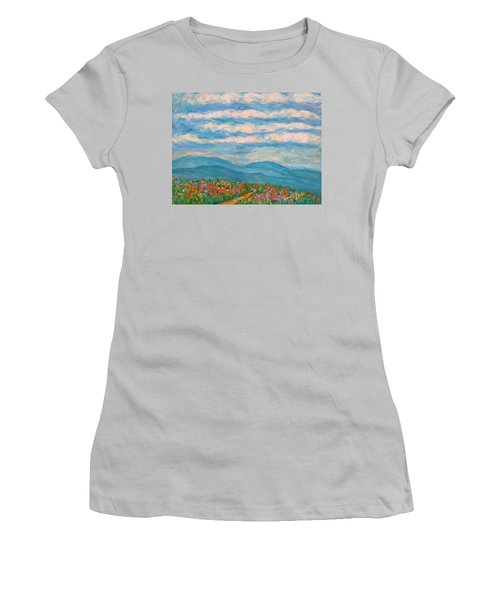 Flower Path To The Blue Ridge Women's T-Shirt (Athletic Fit)