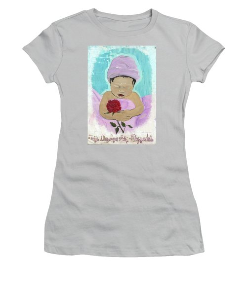 Fly Happy Unique Angel Again Women's T-Shirt (Athletic Fit)