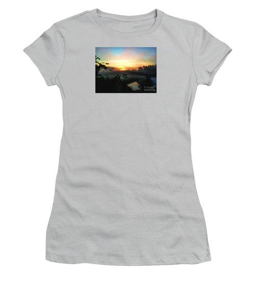 Foggy Edges Sunrise Women's T-Shirt (Athletic Fit)
