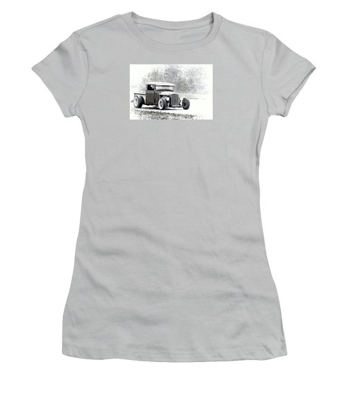 Ford Hot Rod Women's T-Shirt (Junior Cut) by Athena Mckinzie