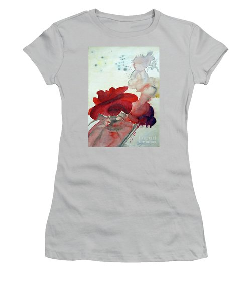 Women's T-Shirt (Junior Cut) featuring the painting Forever by Jasna Dragun