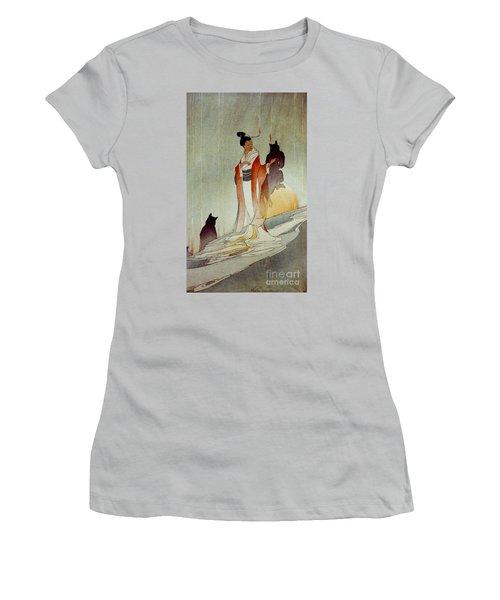 Women's T-Shirt (Junior Cut) featuring the photograph Fox Woman 1912 by Padre Art