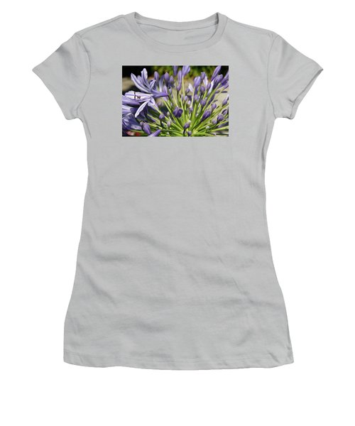 Women's T-Shirt (Junior Cut) featuring the photograph French Quarter Floral by KG Thienemann