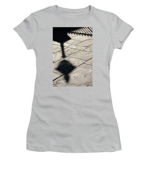 Women's T-Shirt (Junior Cut) featuring the photograph French Quarter Shadow by KG Thienemann