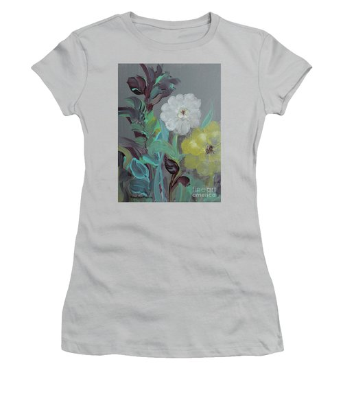 Women's T-Shirt (Athletic Fit) featuring the painting Fresh Start  by Robin Maria Pedrero