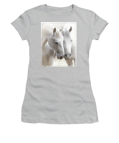 Women's T-Shirt (Junior Cut) featuring the photograph Friends D2573 by Wes and Dotty Weber