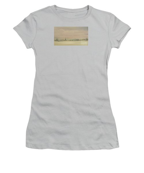 Friesland Under Snow Women's T-Shirt (Junior Cut) by Annemeet Hasidi- van der Leij