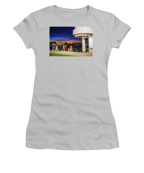 Women's T-Shirt (Junior Cut) featuring the photograph From The Rock Hall by Brent Durken