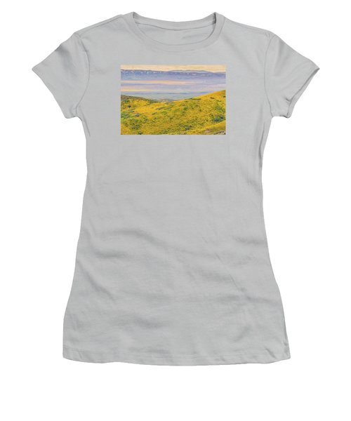 Women's T-Shirt (Junior Cut) featuring the photograph From The Temblor Range To The Caliente Range by Marc Crumpler
