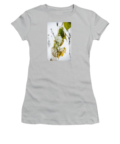 Frosted Green And Yellow Women's T-Shirt (Athletic Fit)