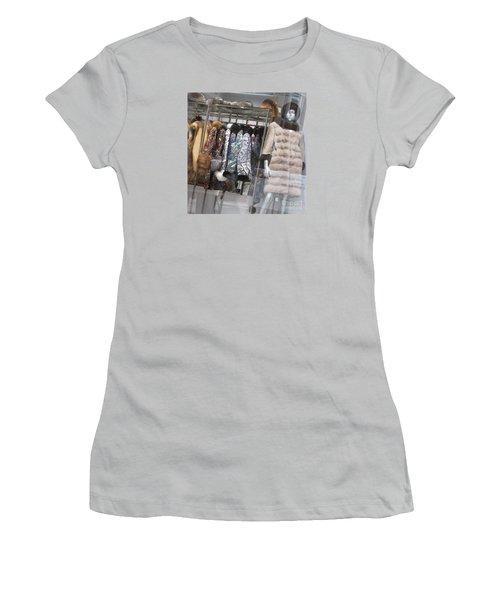 Furs Women's T-Shirt (Junior Cut) by Anna Yurasovsky