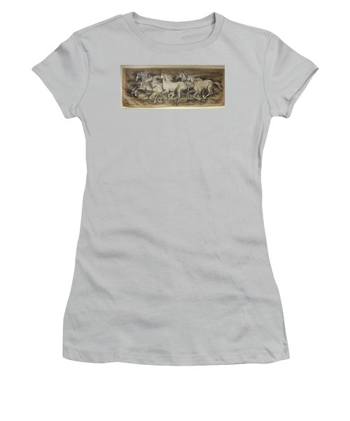 Galloping Stallions Women's T-Shirt (Athletic Fit)