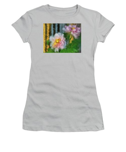 Women's T-Shirt (Athletic Fit) featuring the digital art Garden Variety by Lois Bryan