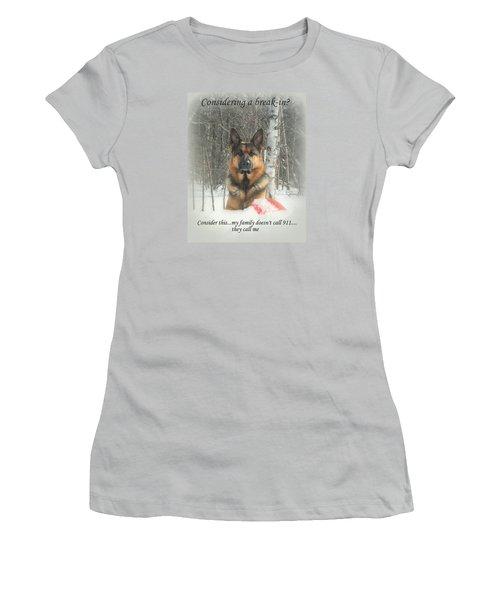German Shepherd 911 Women's T-Shirt (Athletic Fit)