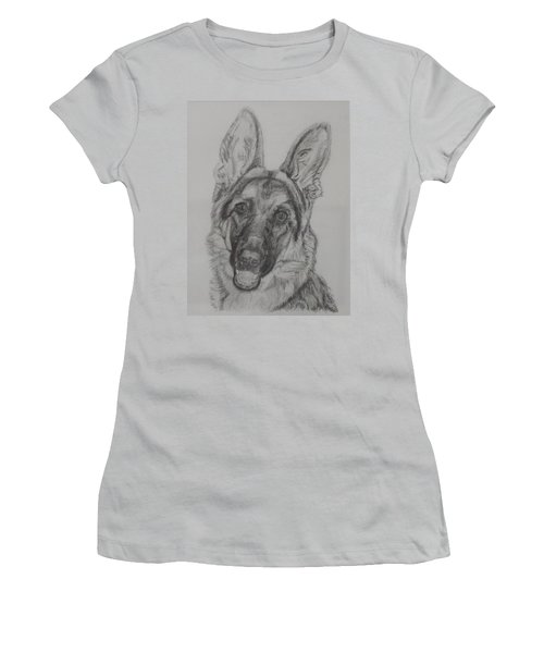German Shepherd  Women's T-Shirt (Athletic Fit)